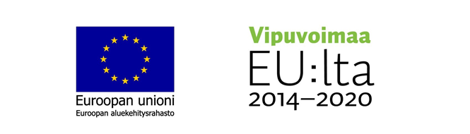 The logos of funders, EU and Vipuvoimaa EU:lta.