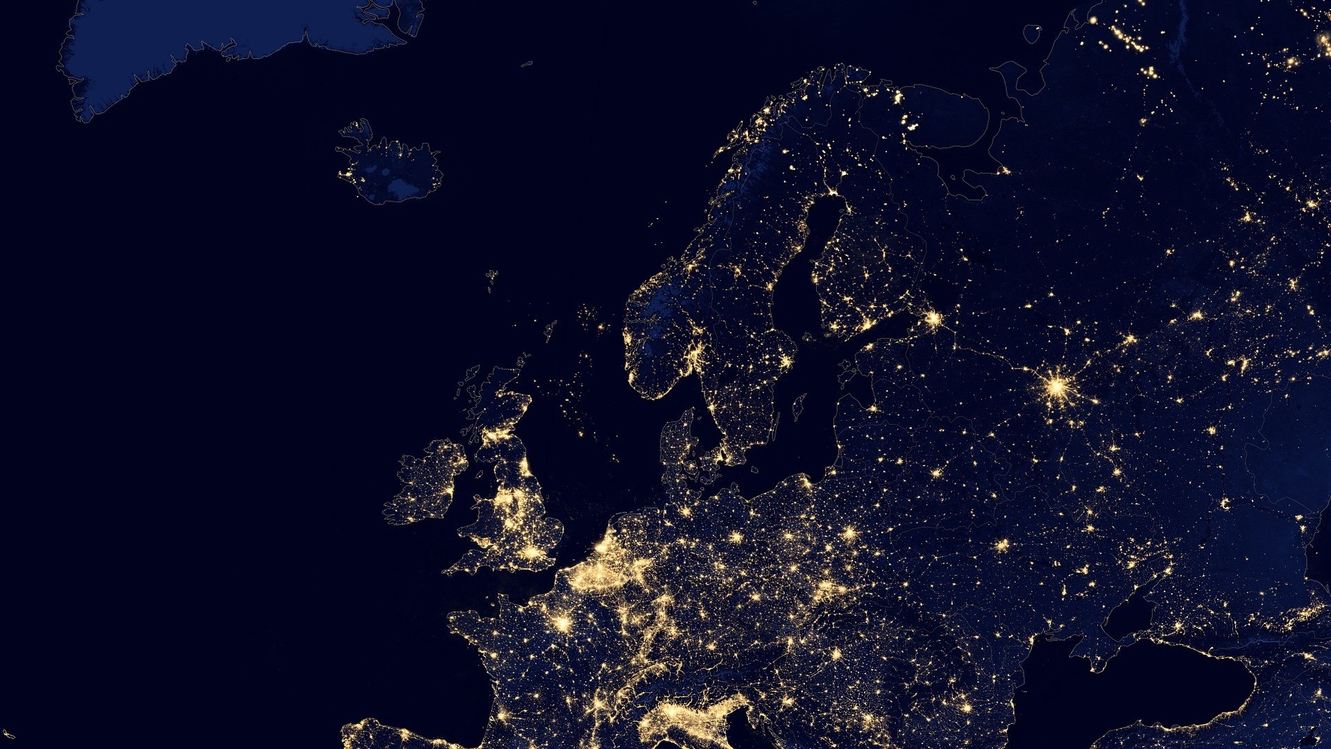 Europe during night