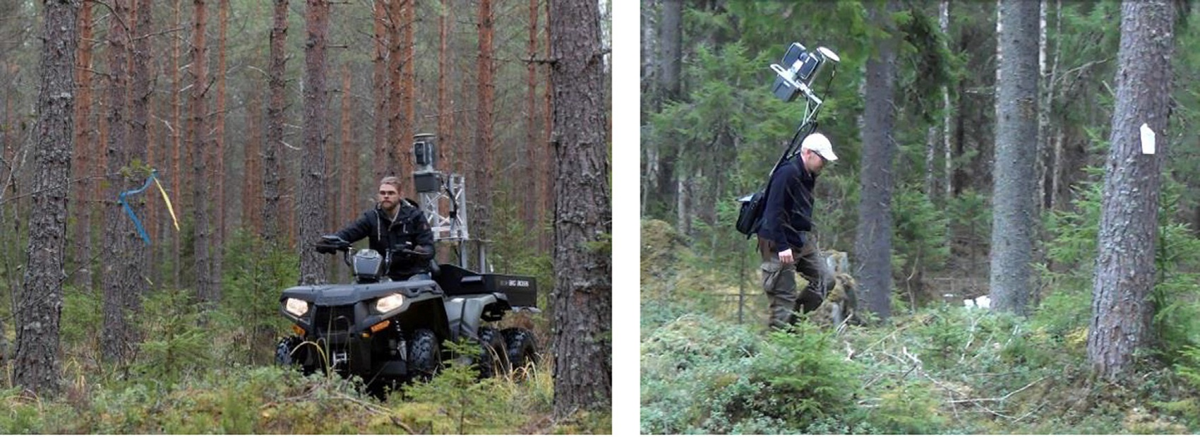 all-terrain vehicle-based and personal laser scanning of forest