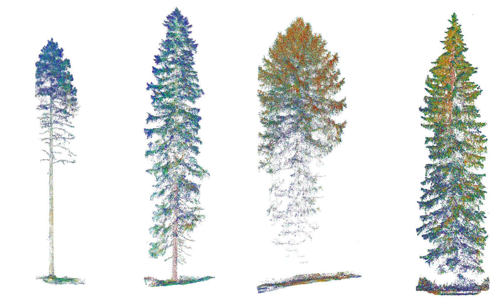 Pointclouds of trees