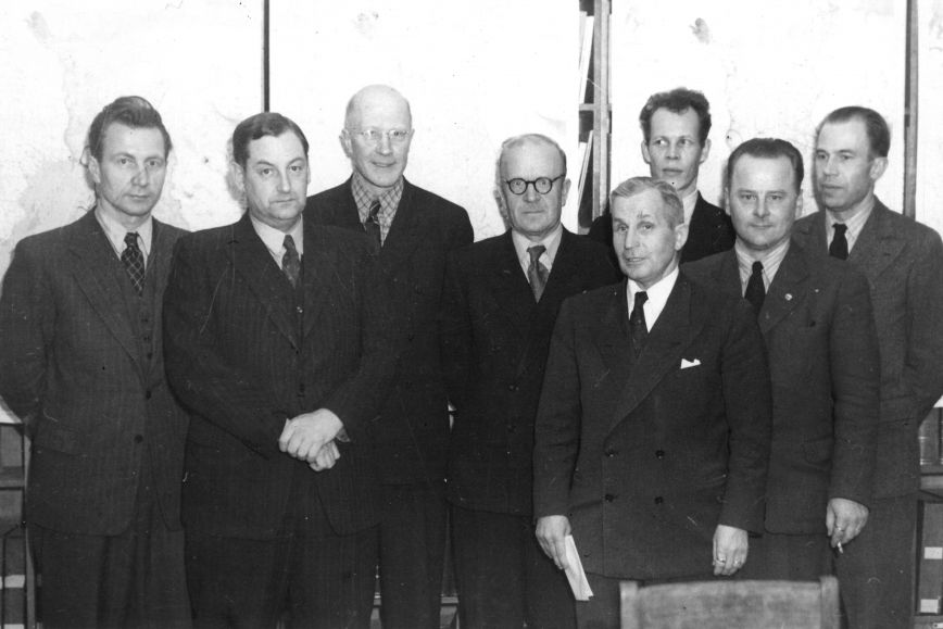 Personnel of the Geodetic Institute in 1949