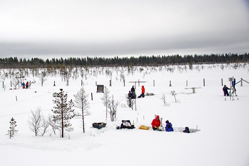 An international team of experts participated in a snow measurement campaign in Sodankylä in March and April.